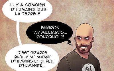 7,7 milliards d'humains et…