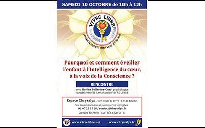 Rencontre à Cadenet : « Pourquoi et comment éveiller l'enfant à l'intelligence du coeur, à la voix de la conscience ?  »