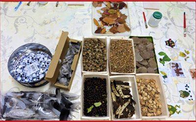 Projet : Les animaux de « La Leçon de Professeur Hibou » en feuilles sèches