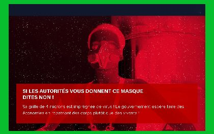 Si les autorités vous donnent ce masque, dites Non !