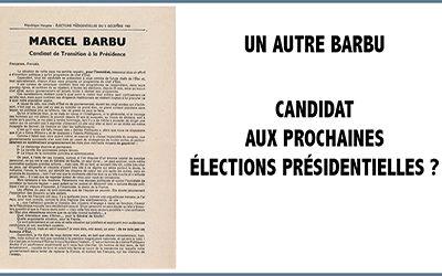 Un autre Barbu candidat aux prochaines élections ?